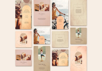 Social Media Post Layout Set
