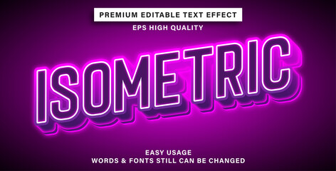 Wall Mural - Text effect isometric