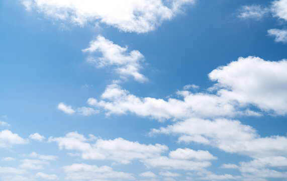 blue sky with white clouds - perfect for sky replacement