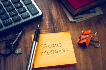 second mortgage word on note