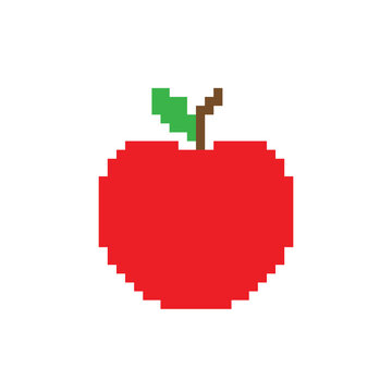 pixel apple icon vector pixel element for game