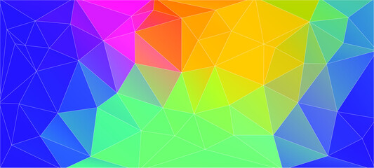 Flat vibrant color triangle geometric wallpaper for your design
