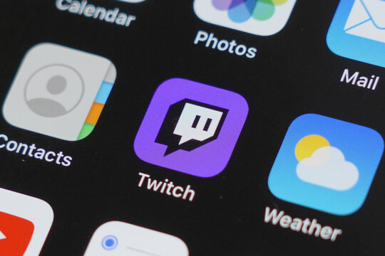 View of Twitch Apps on Iphone Screen