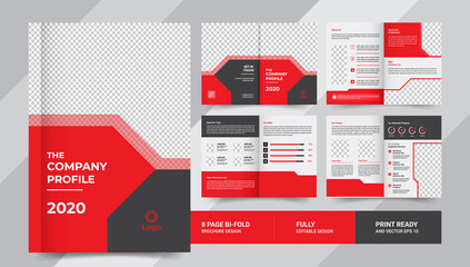 8 pages company profile business brochure use it is for business promotion