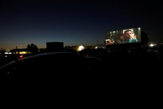 "Advanced screening for the movie ""The Rental"" at the Vineland Drive-In movie theater in City of Industry"
