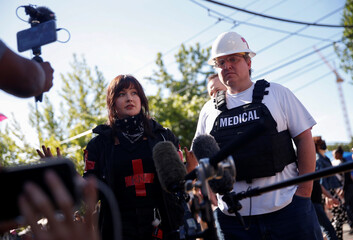 Medics speak about being targeted by Seattle Police at the CHOP area near the Seattle Police Department's East Precinct in Seattle