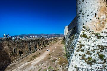 Fototapeta It's Part of the Krak des Chevaliers, a Crusader castle in Syria obraz