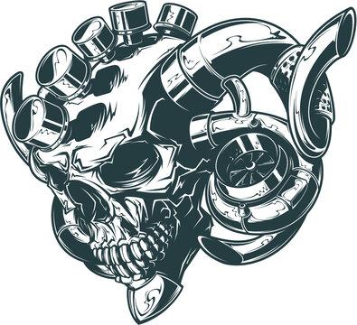 Vector Turbo Skull
