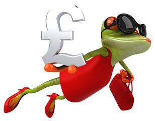 Photo sur Plexiglas Grenouille Fun frog - 3D Illustration