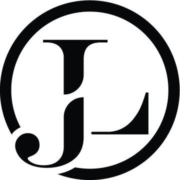 alphabet letter icon logo JL or LJ