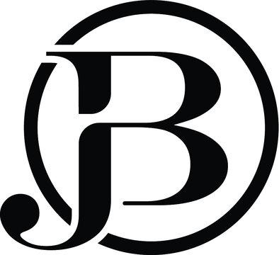 Alphabet letter icon logo JB or BJ