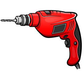 Vector drill cartoon isolated design