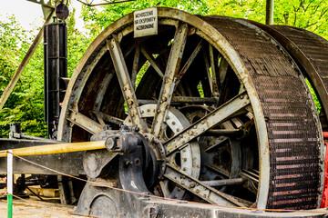 Fototapeta koło zamachowe maszyny parowej