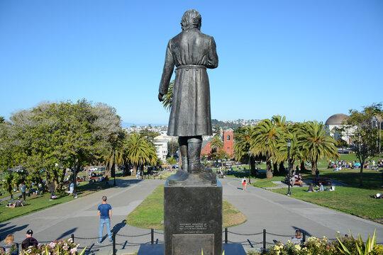 San Francisco California USA - August 17, 2019: Mission Dolores Park