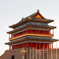 Foto op Aluminium Xian It's Zhengyangmen Gatehouse at the Tiananmen Square (Gate of Heavenly Peace), a large city square in the centre of Beijing, China