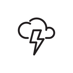 thunder storm icon logo illustration design