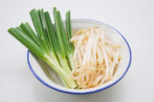 Fresh healthy organic green vegetable garlic chives,
