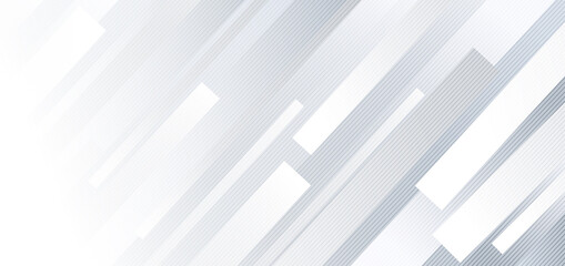 Abstract  geometric white and gray diagonal lines background.