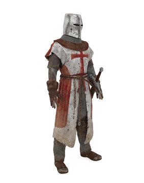 Templar Knight Armor Isolated