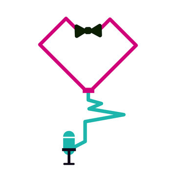 stethascope in bow tie with mic