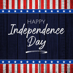 4th of July Independence Day wood background