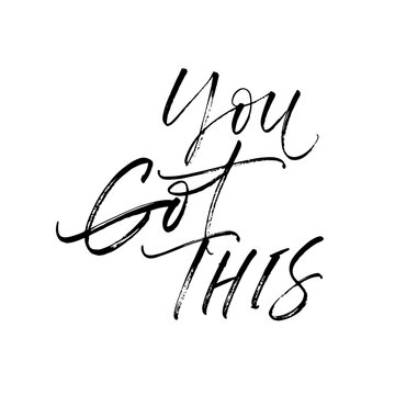 You got this postcard. Hand drawn brush style modern calligraphy. Vector illustration of handwritten lettering.