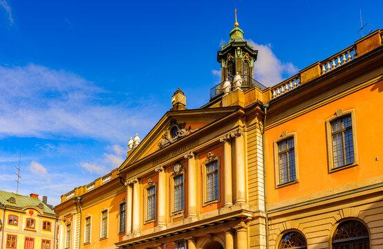 Façade of the Stock Exchange Building, Stockholm, Sweden