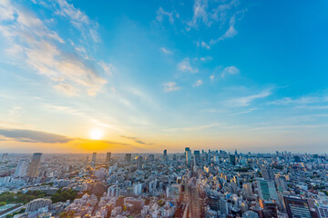 Fototapeten Blau Jeans 東京風景