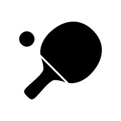 Ping pong Icon. table tennis icon illustration on white background.