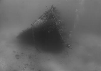 Printed roller blinds Shipwreck underwater ship wreck caribbean sea Aruba