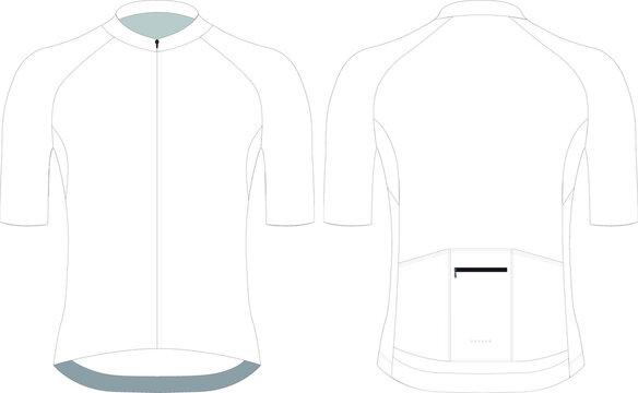 Cycling short sleeve jersey custom design blank template vector illustration