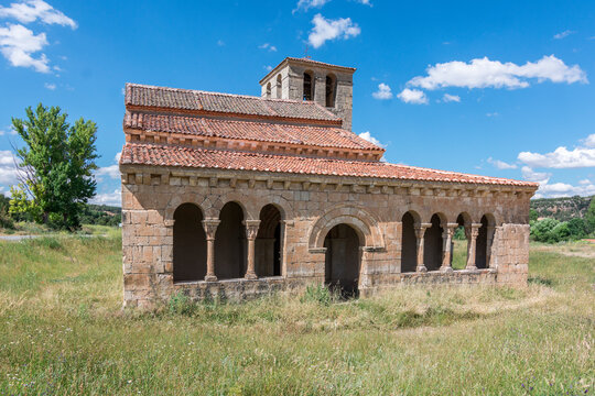 Church of Our Lady of Las Vegas in the province of Segovia in Requijada, example of the Romanesque of Spain
