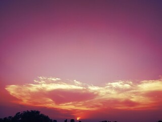 Papiers peints Grenat Beautiful dramatic view of nature in Evening Stock photos. This photo is taken in india.
