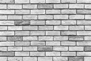 Printed roller blinds Brick wall Vintage old white brick wall texture and seamless background.