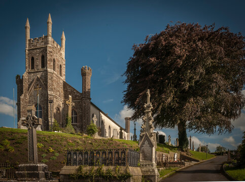 Killeshin Parish Church and Copper Beech Tree on the Carlow Laois County Boundaries