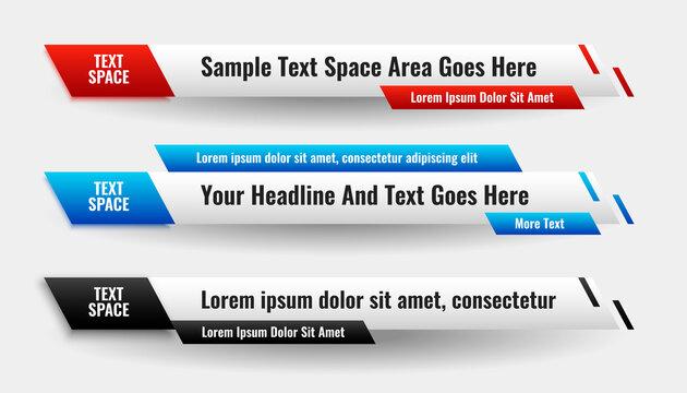 modern abstract lower third stylish banner design