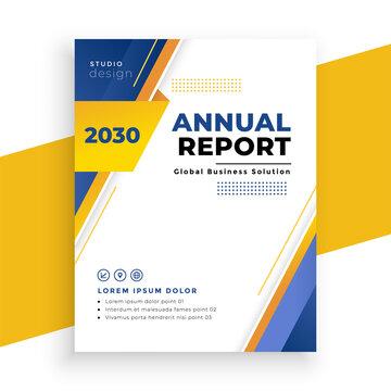 modern annual report business brochure template design