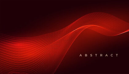 Wall Murals Abstract wave elegant red glowing wave abstract background design