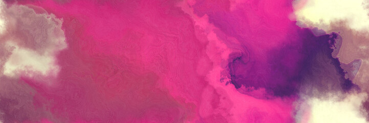 abstract watercolor background with watercolor paint with mulberry , moderate pink and wheat colors. can be used as web banner or background