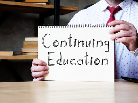 Continuing Education is shown on the conceptual business photo