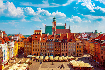 Papiers peints Europe de l Est Market square in Warsaw