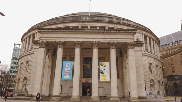 Round building of Manchester Central Library - MANCHESTER / UNITED KINGDOM - JANUARY 1, 2019
