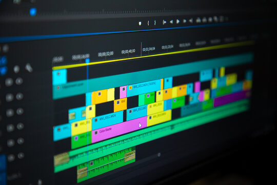 video time line, Video editing
