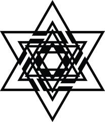 Jewish Star of David icon Jewish tradition biblical symbol isolated vector illustration Israel national sign