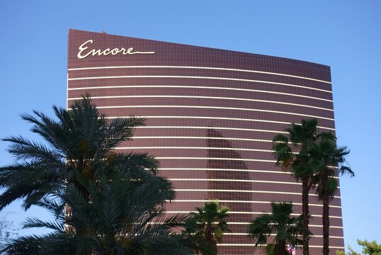 LAS VEGAS, NV -6 JUN 2020- Exterior day view of the Encore Las Vegas, a luxury hotel and casino located on the Strip in downtown Las Vegas, United States.