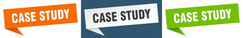 case study banner. case study speech bubble label set. case study sign