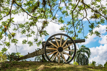 Photo sur Aluminium Amérique du Sud Cannons monuments in Suriname, South America