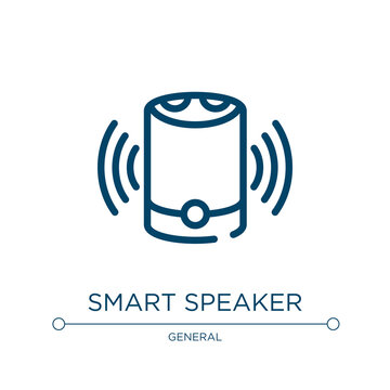 Smart speaker icon. Linear vector illustration from general collection. Outline smart speaker icon vector. Thin line symbol for use on web and mobile apps, logo, print media.
