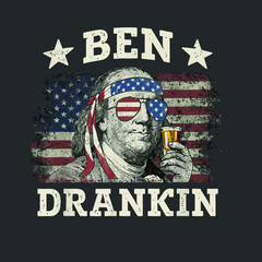 Ben Drankin 4th Of July Patriotic Funny T shirt