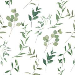 Organic herbal seamless patter...